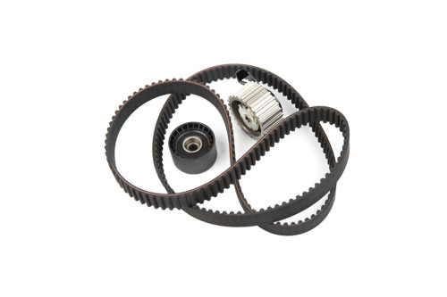 Image of timing belt with rollers isolated