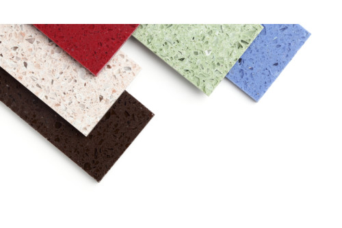 Color Stone Samples on white background